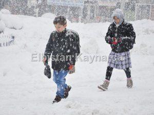 Elbistan'da okullar tatil edildi