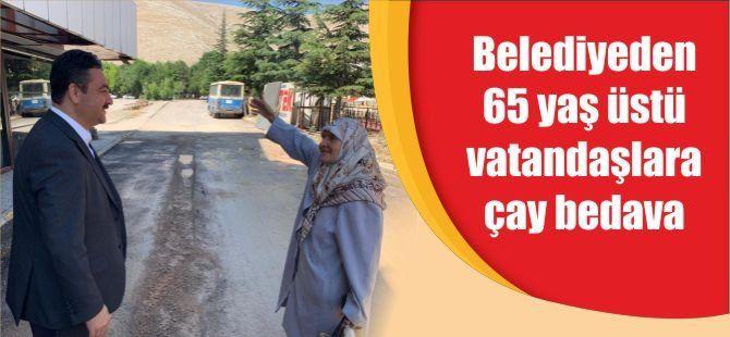 Belediyeden 65 yaş üstü vatandaşlara çay bedava