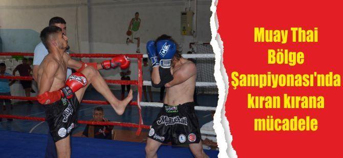 Muay Thai Bölge Şampiyonası'nda kıran kırana mücadele