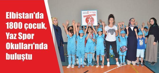 Elbistan'da 1800 çocuk, Yaz Spor Okulları'nda buluştu