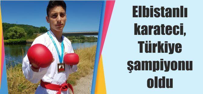 Elbistanlı karateci, Türkiye şampiyonu oldu