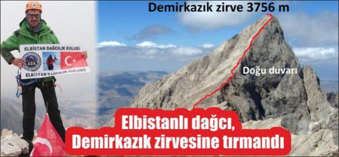 Elbistanlı dağcı, Demirkazık zirvesine tırmandı