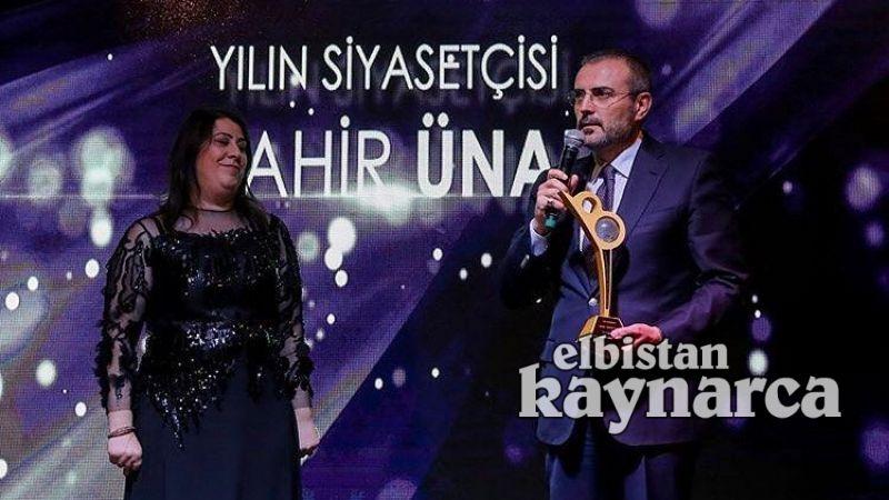 Mahir Ünal'a 'Yılın Siyasetçisi' ödülü