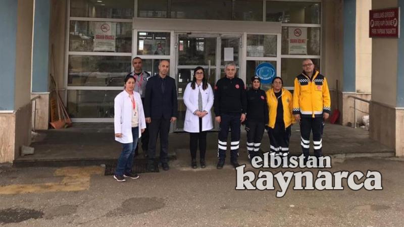 Öksüz'den Nurhak Devlet Hastanesi'ne ziyaret