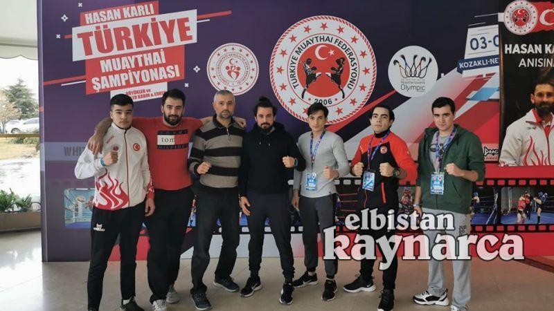 Elbistanlı 2 sporcu muaythai şampiyonasında Türkiye üçüncüsü oldu