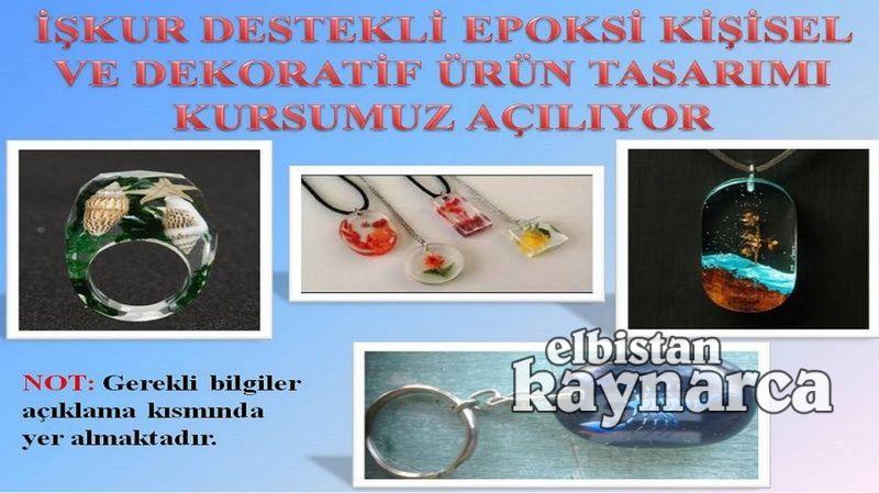 HEM ve İŞKUR'dan epoksi dekoratif ürün tasarımı kursu