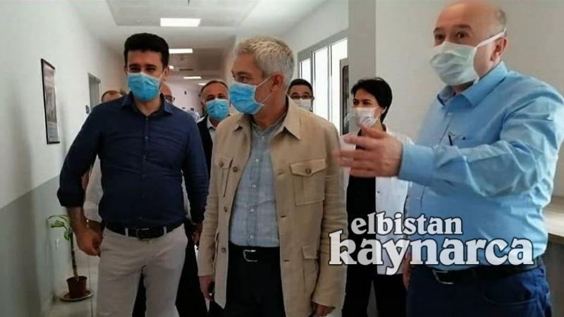 İl Sağlık Müdürü Öksüz, Elbistan'da Kalp Merkezi çalışmalarını inceledi