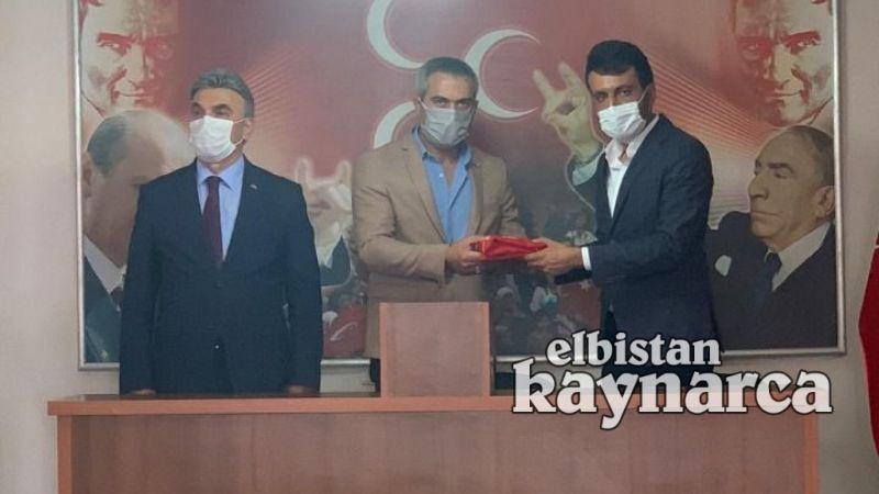 MHP İlçe Başkanı Üzeyir Bostan, bayrağı devraldı