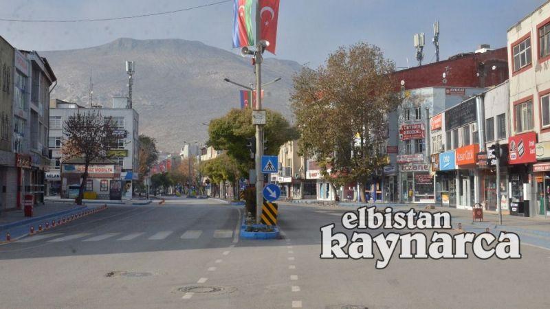 80 saatlik sokağa çıkma kısıtlamasında Elbistan, sessizliğe büründü