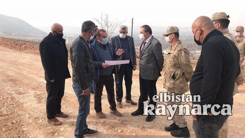 Kaymakam Demir, TOKİ konutları inşaatında inceleme yaptı