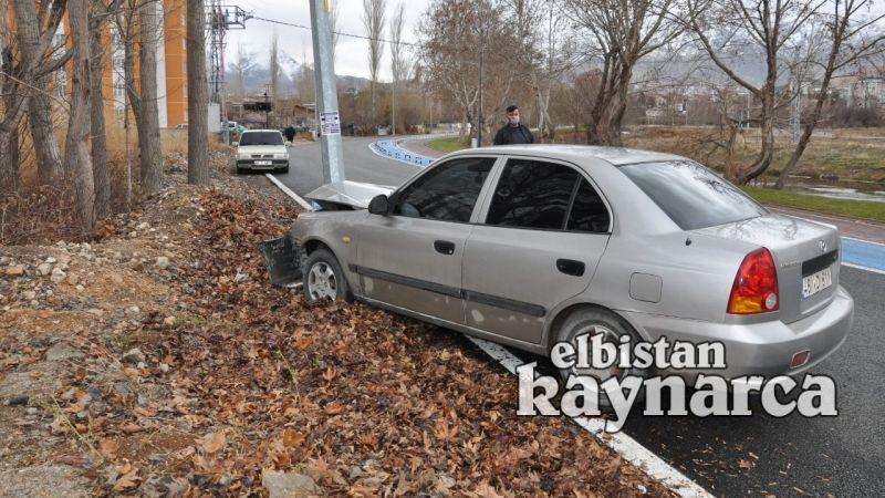 Otomobil elektrik diğerine çarptı: 1 yaralı