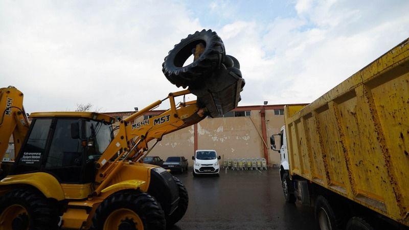20 ton atık araç lastiği geri dönüştürülüyor