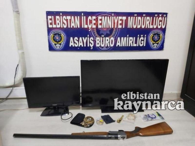 2 ayrı evden altın, ziynet eşyası ve televizyon çalan şüpheli tutuklandı