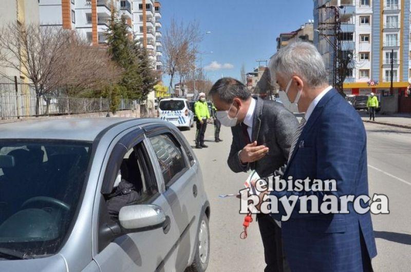 Elbistan'da 'Yayalar Kırmızı Çizgimiz' uygulaması yapıldı