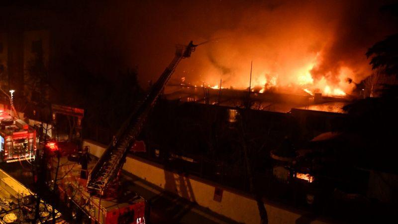 Kahramanmaraş'ta orduevinde çıkan yangın kontrol altına alındı