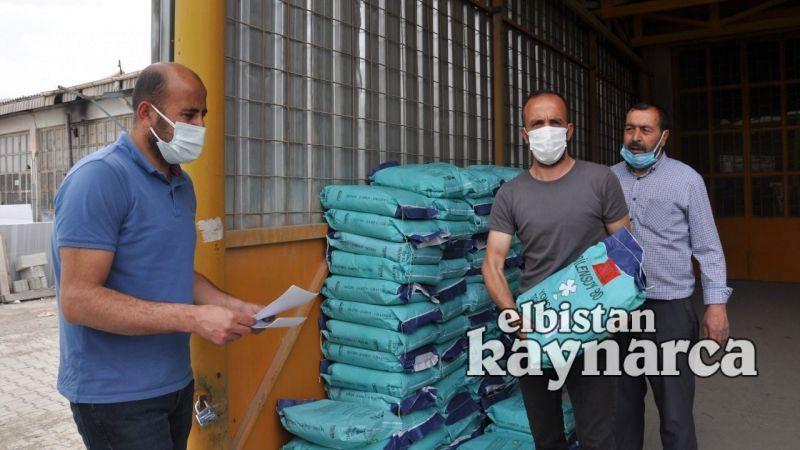 Elbistan'da çiftçilere yonca tohumu dağıtıldı