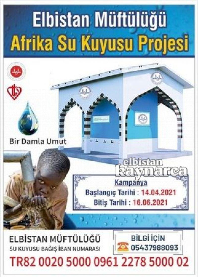 'Afrika'ya bir damla umut' adıyla su kuyusu kampanyası