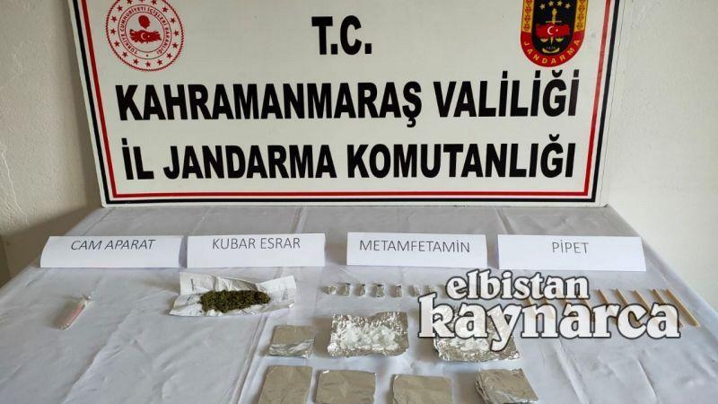 Jandarmadan Ekinözü ve Elbistan'da uyuşturucu operasyonu