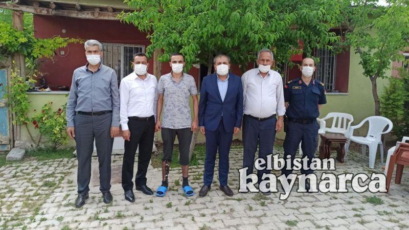 Kaymakam Demir'den patlamada yaralanan Mehmetçik'e ziyaret