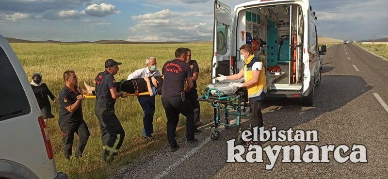 Düğüne giden aileyi taşıyan otomobil tarlaya girdi: 1 yaralı