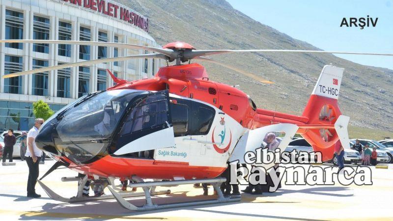 Kalp krizi geçiren hasta ambulans helikopterle sevk edildi