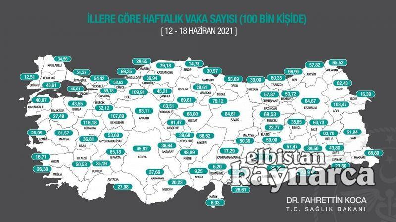 Bakan Koca, insidans haritasını açıkladı