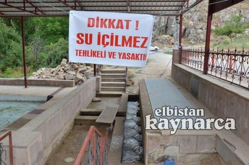 Taşburun'daki pınar suyuna içilemez raporu