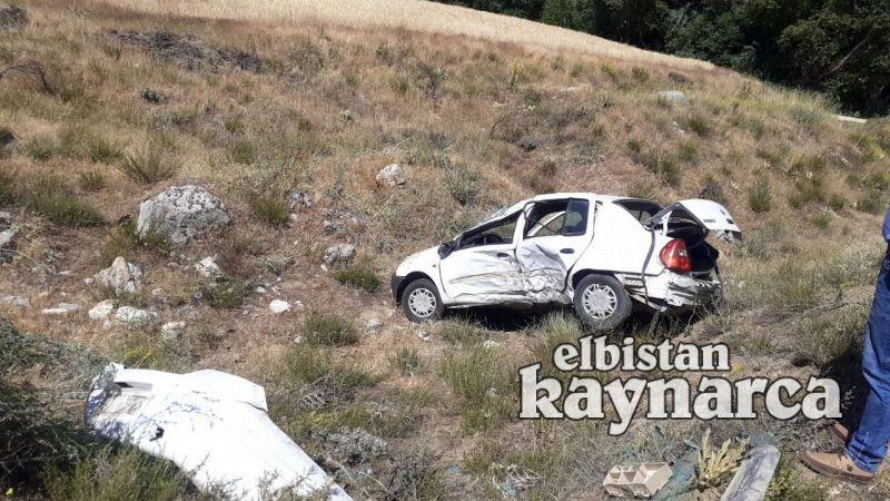 Takla atan otomobil tarlaya uçtu: 1 yaralı