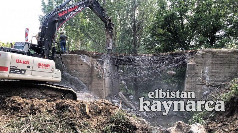 Tapkırankale'nin köprüsü yenileniyor