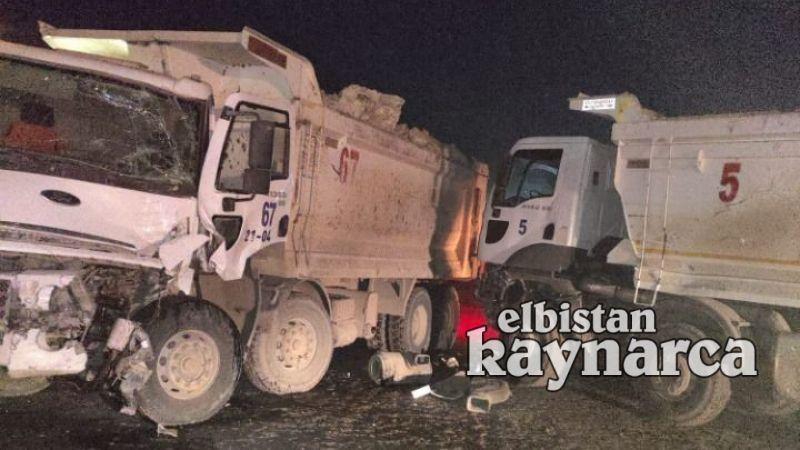 Kömür sahasında kamyonlar çarpıştı: 2 yaralı
