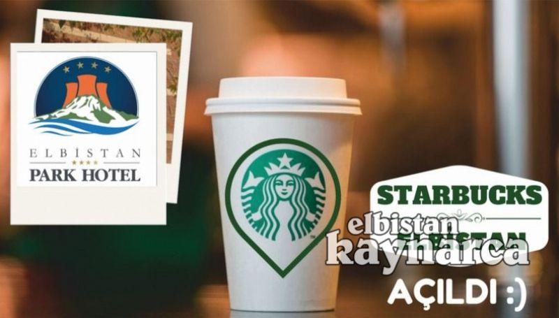 Starbucks, Grand Elbistan Park Otel'de hizmete açıldı