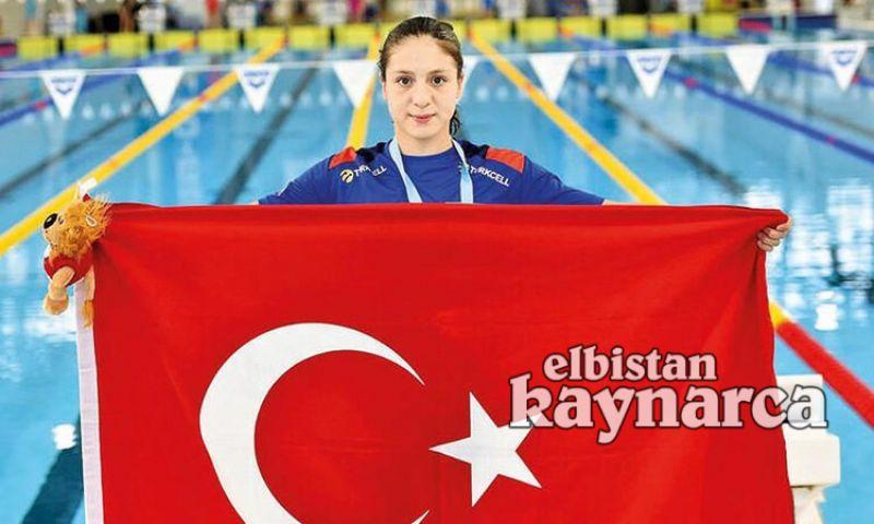 Elbistanlı milli yüzücü Merve Tuncel Avrupa rekoru kırdı