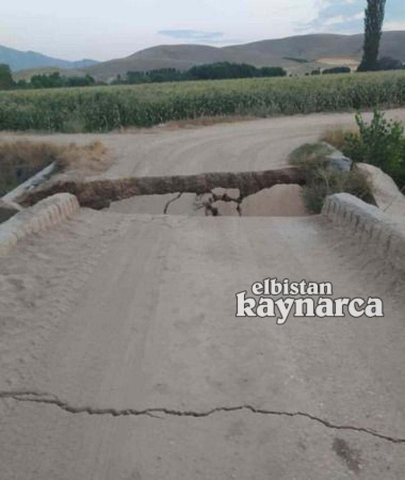 Binlerce dönüm araziye geçişi sağlayan köprü yıkıldı