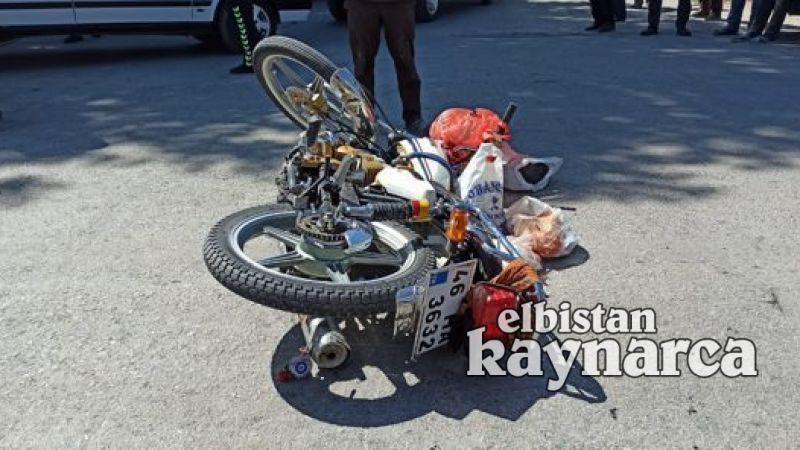 Motosiklet otomobile yandan çarptı: 1 yaralı
