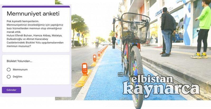Bisiklet yolu için memnuniyet anketi