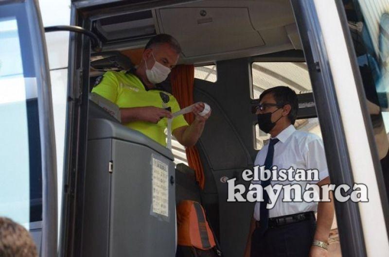 Polisten yolcu otobüslerine denetim