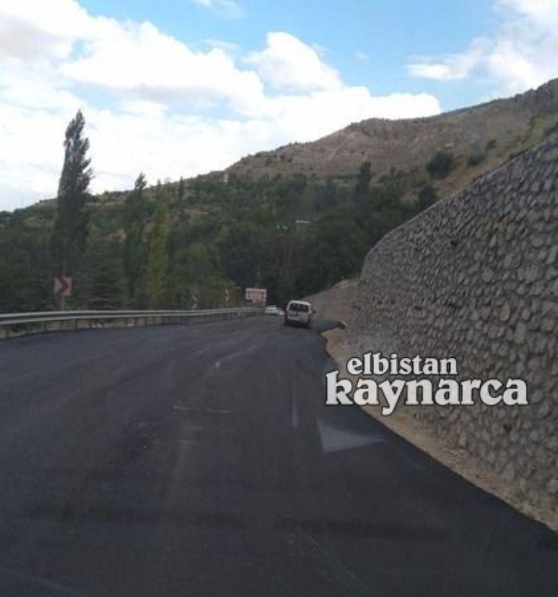 Karayolları'ndan şelale yoluna 450 metre duvar