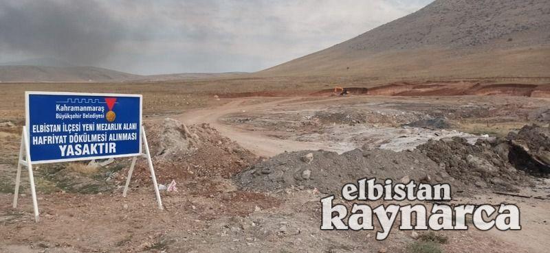 Elbistan'ın yeni şehir mezarlığında çalışmalar başlıyor