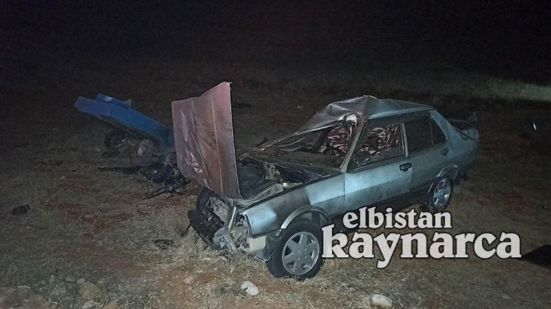 Afşin'de feci kaza: 3 ölü 2 ağır yaralı
