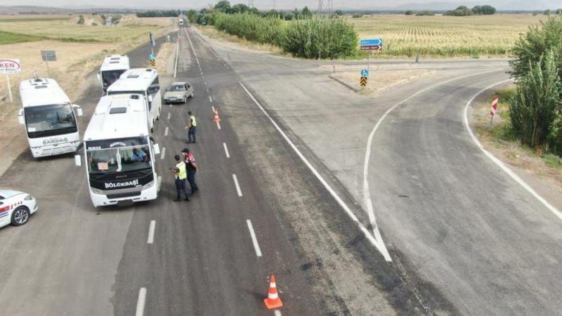 Jandarma trafikten drone destekli denetim