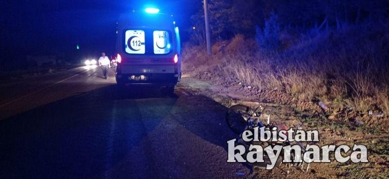 Otomobil, motosiklete arkadan çarptı: 2 yaralı