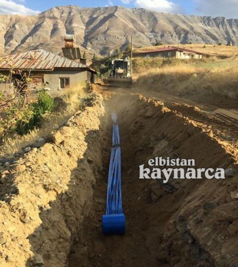 Ambar Mahallesi'ne 11 bin metre içme suyu şebekesi