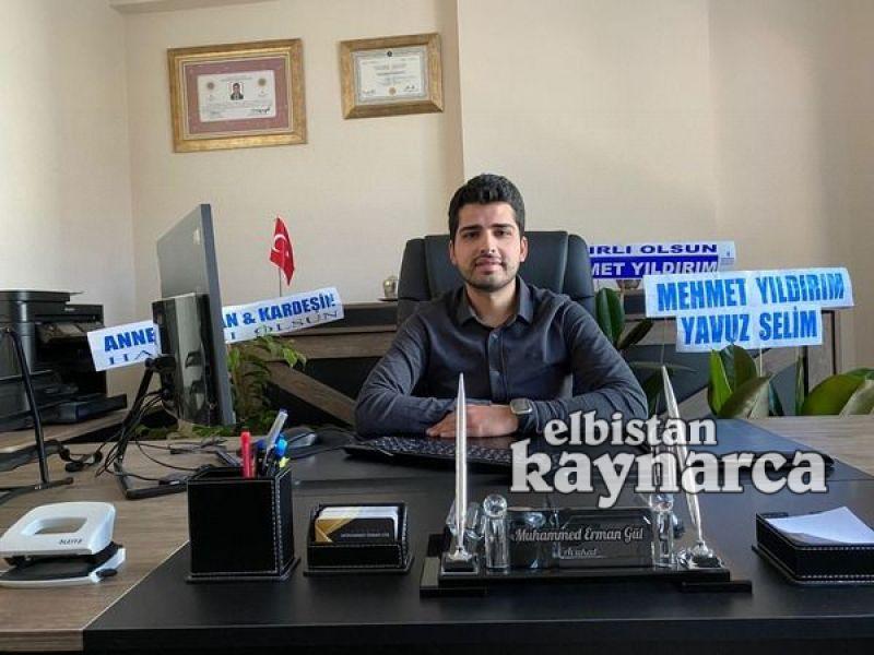 Avukat Muhammed Erman Gül Hukuk Bürosu açıldı