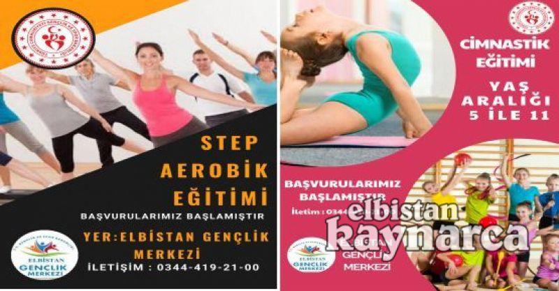 Gençlik Merkezi'nden temel jimnastik ve step/aerobik kursu