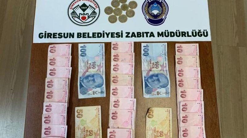 Giresun'da dilencinin üzerinden 3 saatte topladığı 1000 lira çıktı