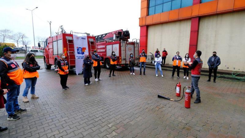 AFAD gönüllülerine yangın eğitimi verildi