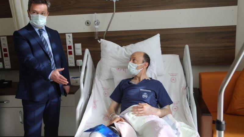 Vali Ünlü, yaralı polisleri ziyaret etti