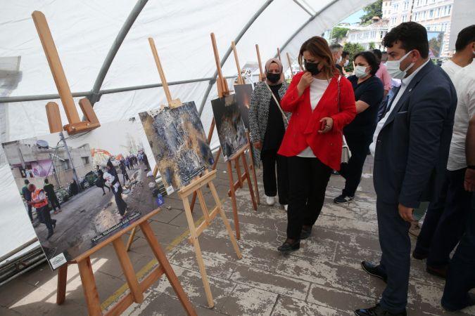 """Giresun'da, """"Kudüs: Müslümanların kıble davasıdır"""" konulu fotoğraf sergisi açıldı"""