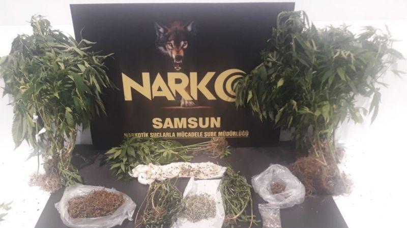 Samsun'da evinde uyuşturucu ele geçen şahıs gözaltına alındı