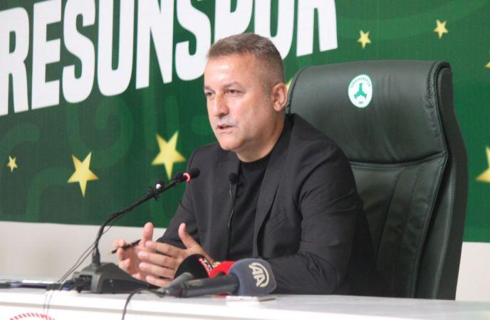 """Giresunspor Başkanı Karaahmet: """"Giresunspor, Süper Lig'de yeni bir hikaye yazacak"""""""